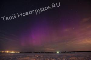 северное сияние в белоруссии